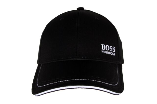 342e83cce Hugo Boss Men's Premium Adjustable Sport Cotton Cap 1 Logo Hat Black  50245070