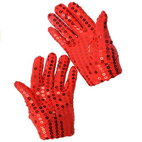 Sparkle Sequin Wrist Gloves for Party Dance Event Kids Costume KS