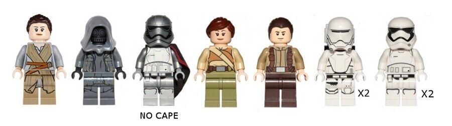 Lego 75099 75103-Star Wars-episodio 7-Mini Fig Lote - 9 Mini Figuras
