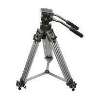 Professional Heavy Duty 75mm Video Camera DSLR Tripod with Fluid Drag Pan Head