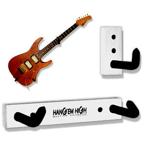 white angled guitar wall hanger for electric guitars and basses rack mount stand ebay. Black Bedroom Furniture Sets. Home Design Ideas