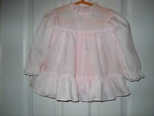 Vintage Bryan baby dress size 18 months? Full skirt with fabric ruffle, elastic