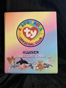 Ty-Beanie-Babies-Official-Collector-039-s-Album-Trading-Cards-53-Pages-3-4-Full-j