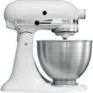 Details about KitchenAid K45SSWH Made In USA Classic Powerful 250 Watts  Stand Mixer white