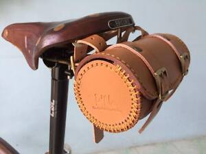 Leather bicycle saddle bag HANDMADE for Brompton ,Brooks,Vintag<wbr/>e (Honey)