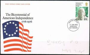 GB QE II 1976 FDC American Independence Huddersfield Postmark - <span itemprop=availableAtOrFrom>Saxmundham, United Kingdom</span> - GB QE II 1976 FDC American Independence Huddersfield Postmark - Saxmundham, United Kingdom