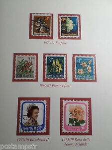 NEW-ZEALAND-LOT-timbres-THEMES-FLEURS-FLOWERS-BUTTERFLY-obliteres-VF-STAMPS