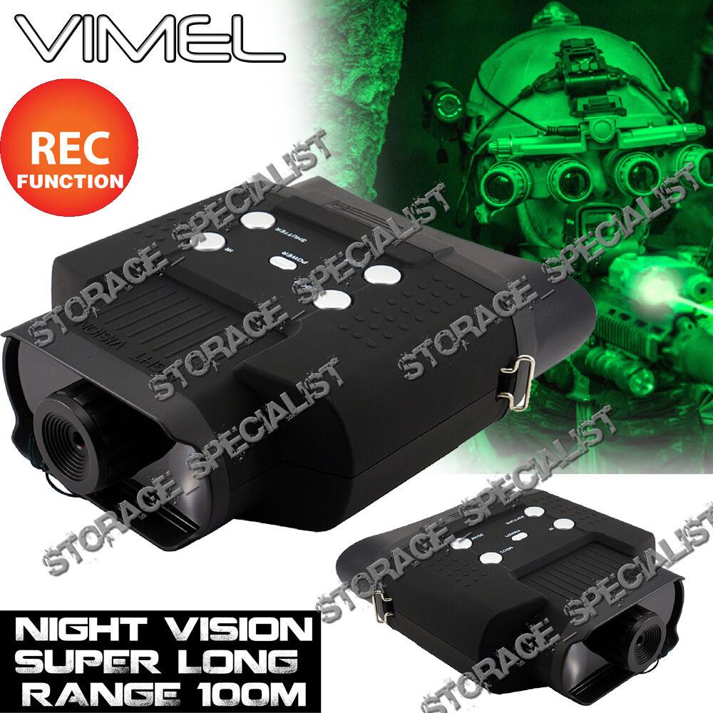Cámara Digital visión Nocturna Binoculare NV monocular Caza Gafas De Seguridad Dvr