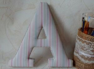 Details About Wood Letter A Fabric Covered Wall Letters Nursery Decor Child Room