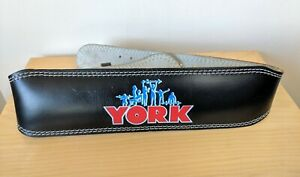 York Fitness Leather Weightlifting Belt