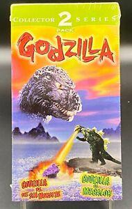 GODZILLA VS SEA MONSTER / GODZILLA VS MEGALON COLLECTOR SERIES 2-VHS VIDEOS SET