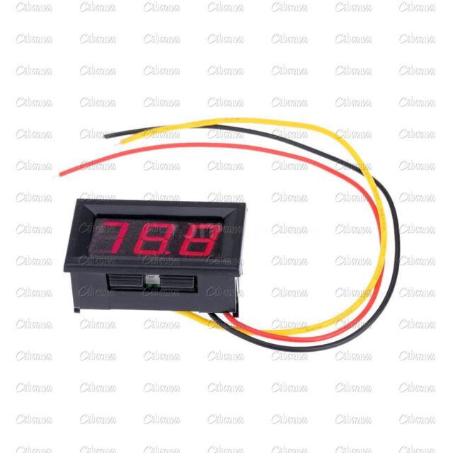 Three Wires Mini Red LED Display Panel Meter Digital Voltmeter DC 0V to 99.9V