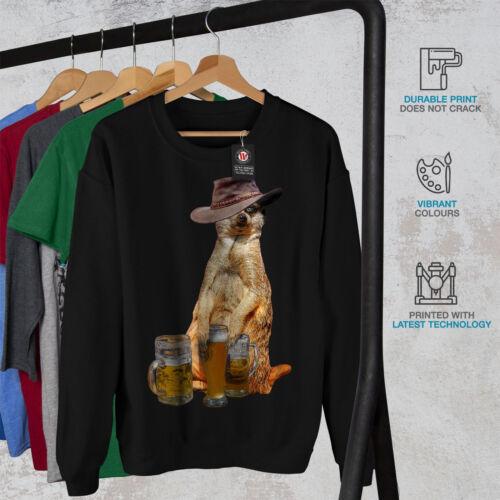 Drunk Meerkat Beer Funny Men Sweatshirt NEWWellcoda