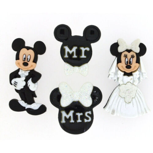 Mickey /& Minnie Mouse Boda Botones-Disney Boda Favores-Botones De Disney