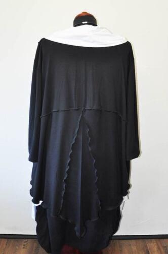 xxxl 48 Lagenlook 52 schwarz Long strickjacke 54 Jersey Zipfel cardigan xxl 50 xYqYPpwf