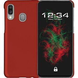 Custodia-Rigida-Gommato-Rosso-per-Samsung-galaxy-A40-Protettiva-Cellulare