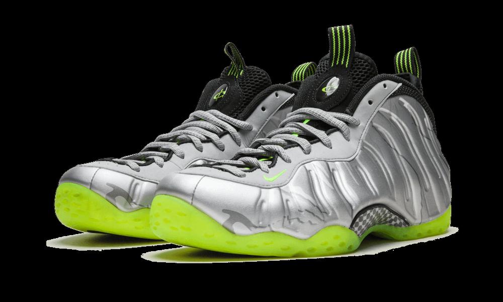 RARE Nike Air Foamposite One PRM Baskets, UK9, argent/vert, 575420004-