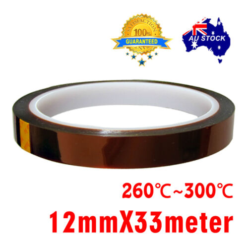 Hot 12mm 33m Heat Resistant High Temperature adhesive Polyimide Kapton Tape Gold