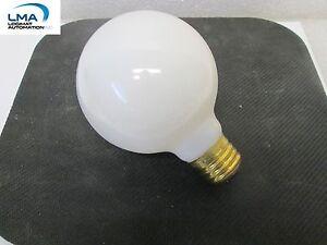 SPECTRO-40G25WM-40W-WHITE-GLOBE-BULB-LIGHT-LAMP-130V-ROUND-NEW