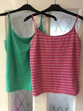 Women's Atmosphere PINK AND GREY STRIPE ONLY Strappy String Vest Top - Size 16