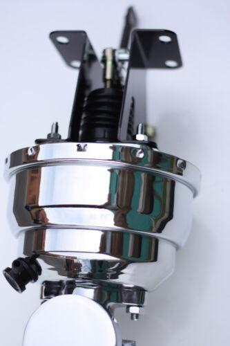 """1974-86 CJ Jeep 8/"""" Dual Chrome Brake Booster Chrome FT MC  Adj Combo valve"""