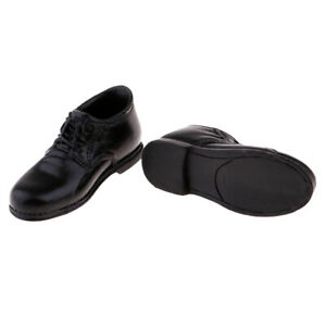 1-6-Scale-Male-Black-Leather-Shoes-for-12-039-039-Hot-Toys-Action-Figure-Accessory