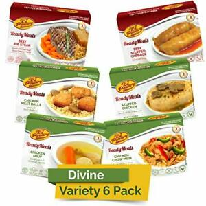 Kosher MRE Meat Meals Ready to Eat 6 Pack Divine Variety - Beef & Chicken - P...