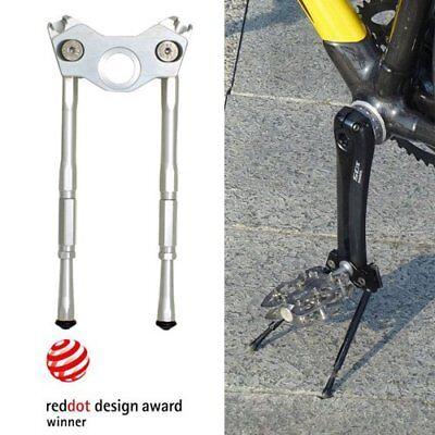 Gearoop Bike Bicycle CoolStand Aluminum Adjustable Side Stick 33-39mm Silver