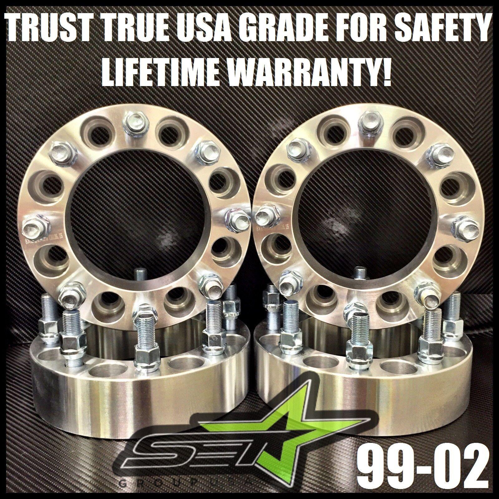 """4Pc 2/"""" 50mm Wheel Spacers 8x170 14x2 Studs Ford F350 Super Duty F250 Truck"""