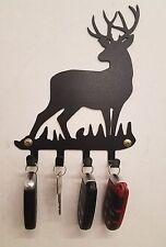 Deer key fob holder metal wall art plasma cut decor chain whitetail