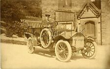 RA909 Early RP POSTCARD Wolseley Siddeley Vintage Car - Possibly at Oldham