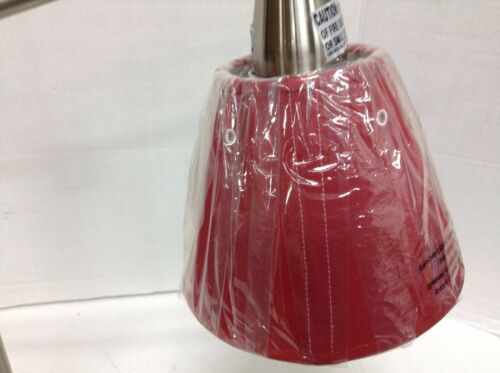 Pottery Barn Kids Star Task Table Patriotic Silver Bedside Lamp with Red shade