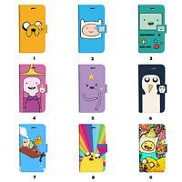 Adventure Time Flip Wallet Case Cover Samsung Galaxy S3 4 5 6 7 Edge Plus Note
