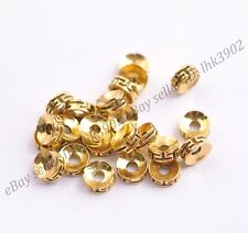 20Pcs Tibetan Silver Antique Gold Charms Spacer Beads Jewelry Findings 7MM D3116