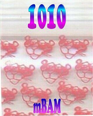 Pink Panther 1010 Original Mini Ziplock 2.5mil Plastic Bags 1 x 1 Reclosable Baggies
