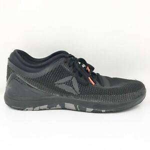 Reebok Mens Crossfit Nano 8.0 Flexweave CN2967 Black Running Shoes Size 9.5
