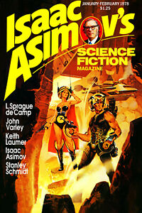 Poster 16x24 1978 Isaac Asimov/'s Science Fiction Magazine Vol 2 No 1 Jan-Feb