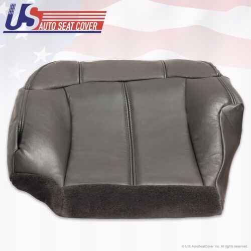 1999 2002 Chevy Silverado Driver Bottom Leather Seat Cover graphite dark Gray