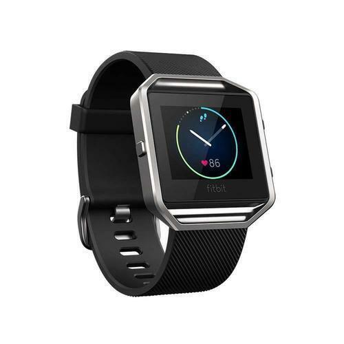 Fitbit Blaze Smart Fitness GPS Reloj de seguimiento de multi-deporte, Negro Plata, Pequeño