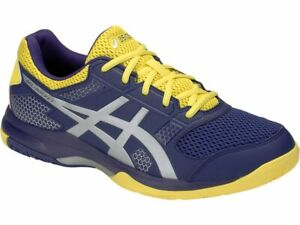 Asics Gel-Rocket 8 Hommes Badminton Chaussures Navy Indoor Chaussures Neuf avec étiquettes 111913005-426