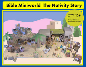 Bible-Miniworld-The-Nativity-Story-73-pages-with-300-pieces-and-instructions