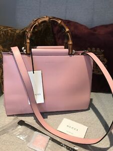 Light-Pink-Gucci-Nymphaea-leather-top-handle-bag-Bought-For-2000-Brand-New