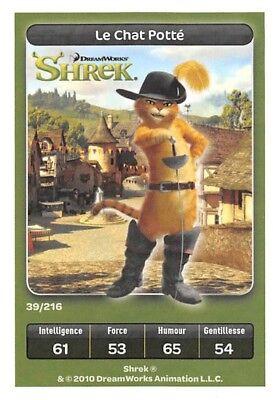 Carte Carrefour Dreamworks Le Chat Potté  Spéciale N°39 Shrek