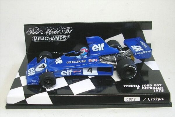 Tyrrell ford 007 No. 4  p. Depailler formule 1 1975 1 43  grandes marques vendent pas cher