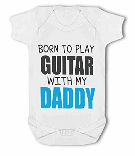 Born to Play Guitar with my Daddy Baby Vest by BWW Print Ltd