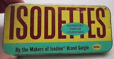 Objective Vintage Isodettes Antibiotic Throat Lozenges Tin Isodine Pharmacal Corp Usa 1962 High Resilience Home & Hearth