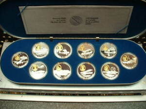 CANADA-20-AVIATION-COIN-SET-SERIE-1-10-coins-total