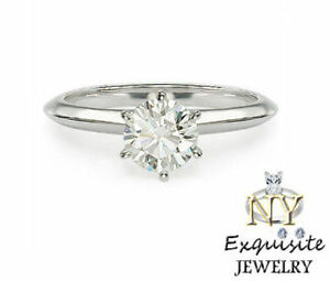 .75ct 3/4 CARAT F/SI1 ROUND-CUT DIAMOND IN 14K GOLD SOLITAIRE ENGAGEMENT RING