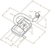 Auspuff Piaggio Vespa P-PX 200 VSX1T 2-Takt Schalldämpfer Sito 0232 TÜV NEU