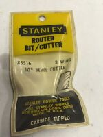 Vintage Stanley 85516 Router Bit 10 Degree Bevel Cutter Carbide Usa